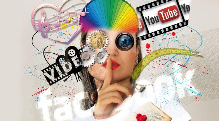 futuristic social media cyborg