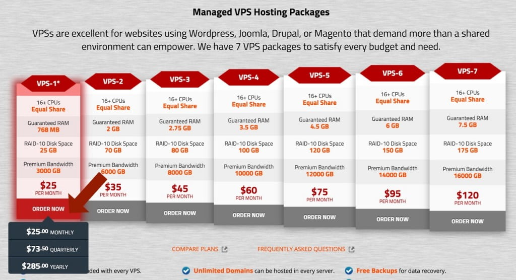 Knownhost VPS Packages