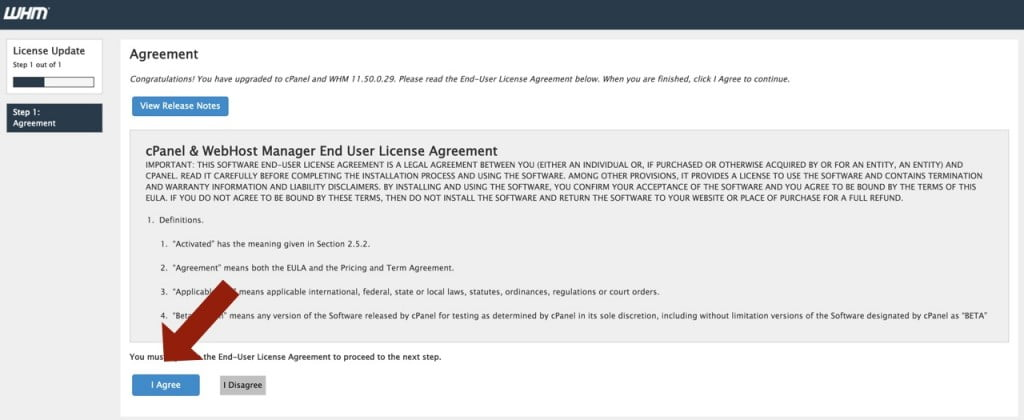 Knownhost WHM license agreement