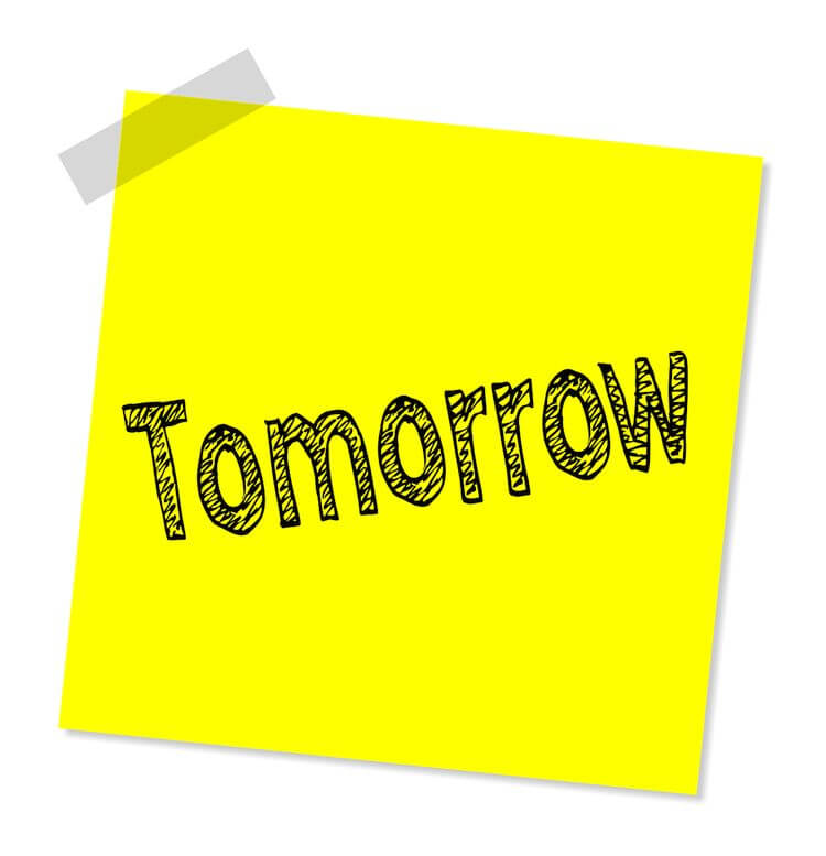 tomorrow postit note