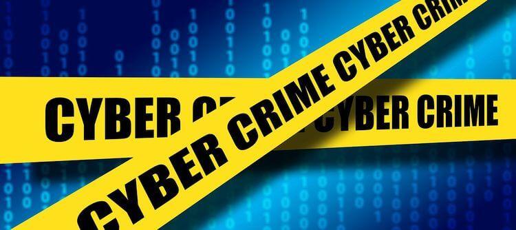 banners saying cybercrime