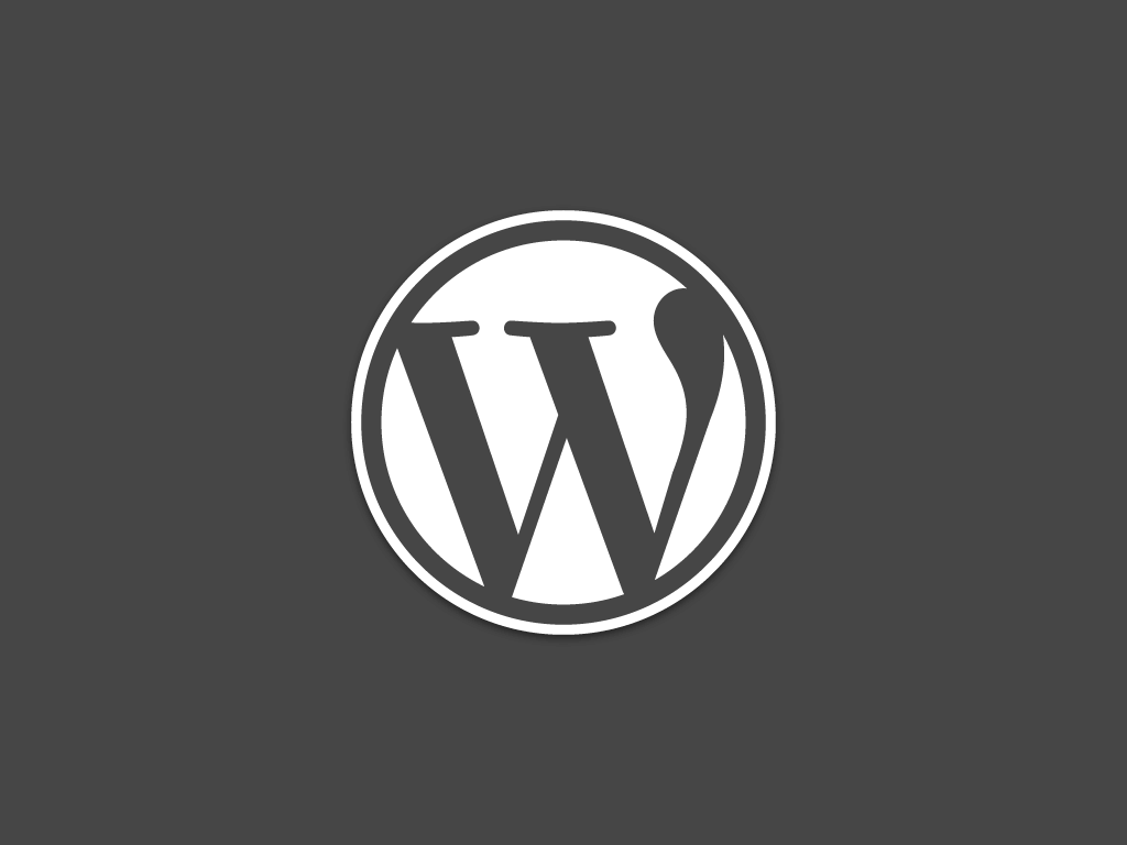 WordPress Logo Dark