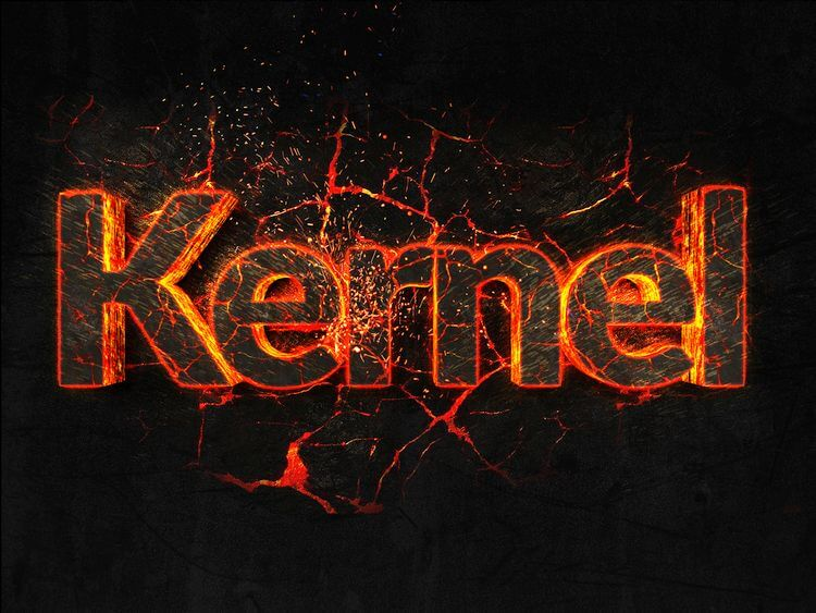 the word kernel on fire