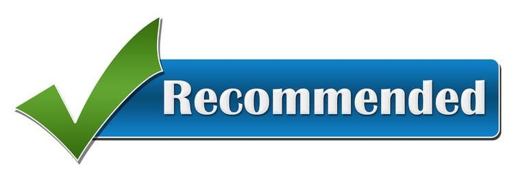 the word recommended with a checkmark
