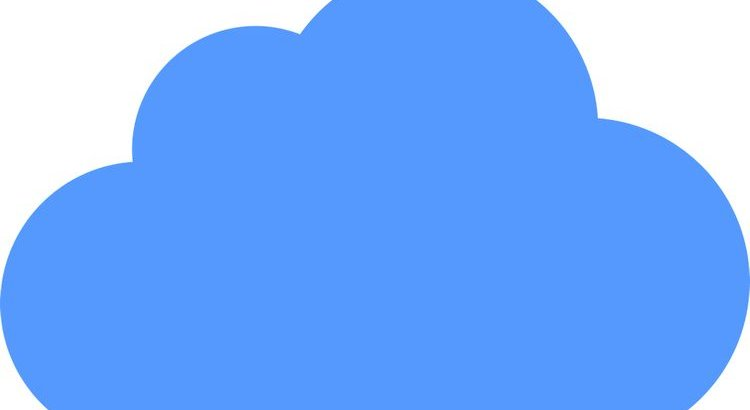 large solid medium blue cloud 2d