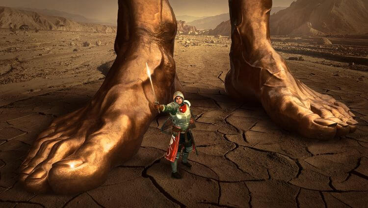giant feet by small archer