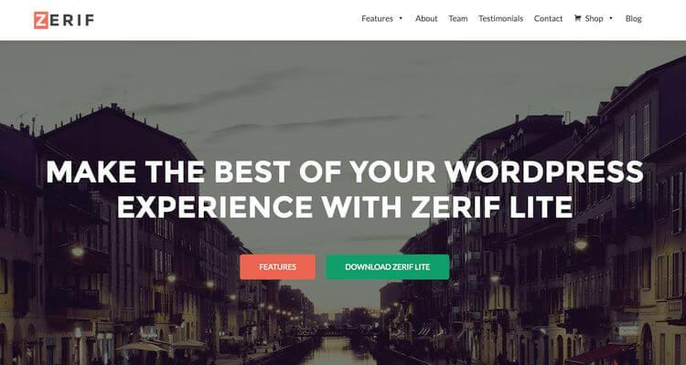 zerif ecommerce theme