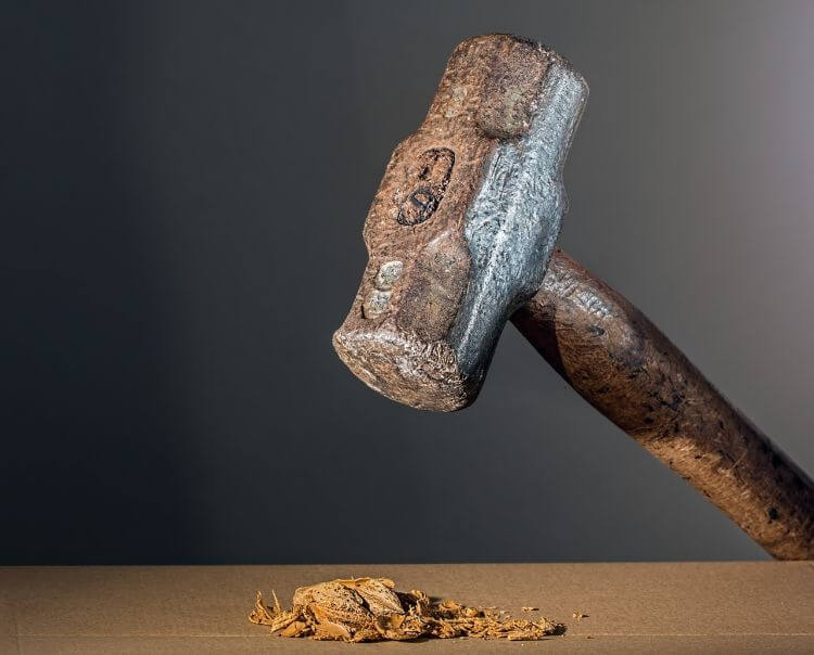 serif hammer crushing a nut1
