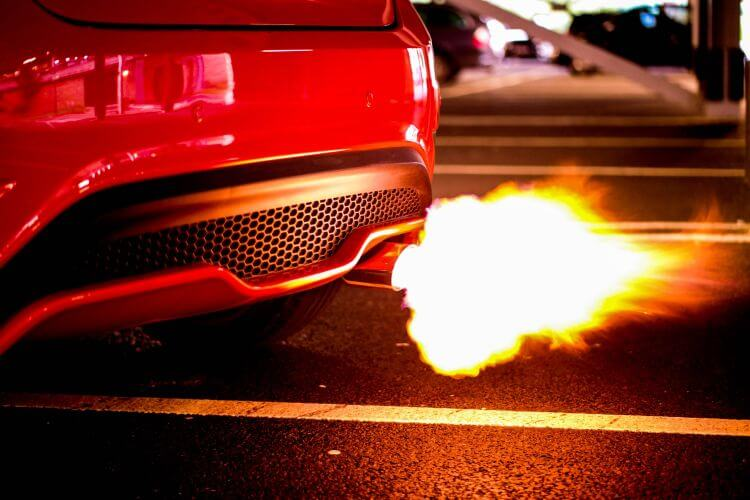 turbocharged exhaust shooting fire