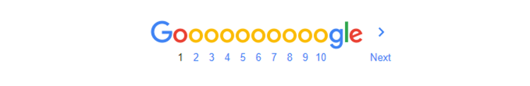 site result pagination