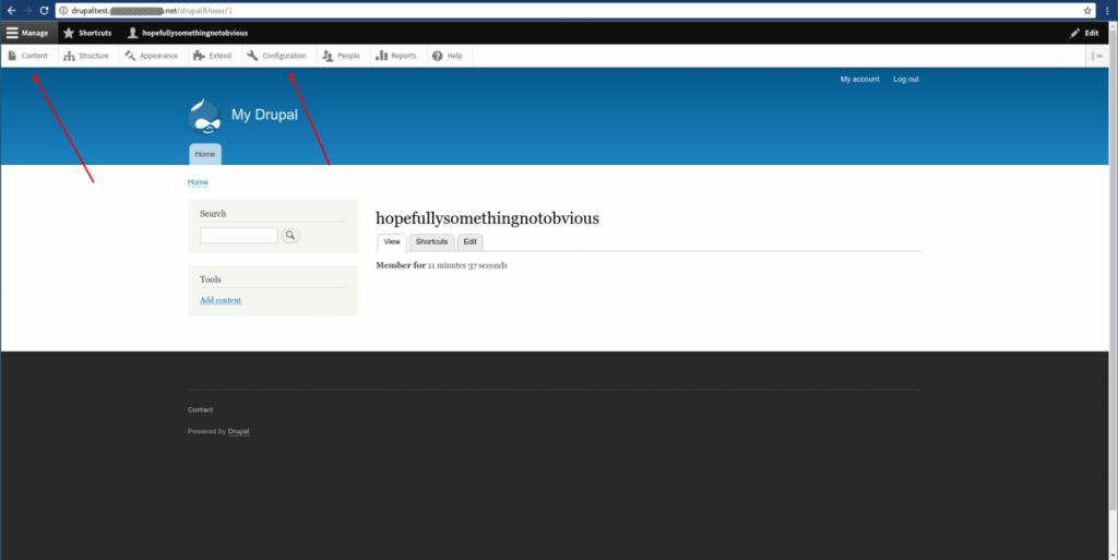 Drupal homepage