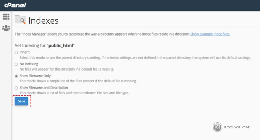 How-to-use-Indexes-in-cPanel