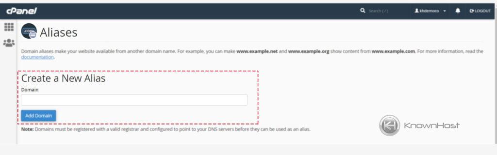 enter-domain-to-setup-aliase