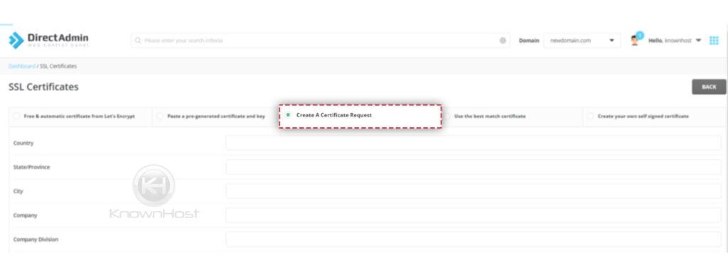 Click-on-Create-A-Certificate-Request-Directadmin