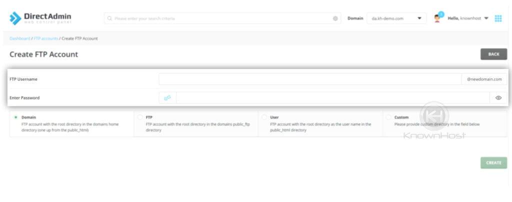 Enter-FTP-username-and-password-directadmin