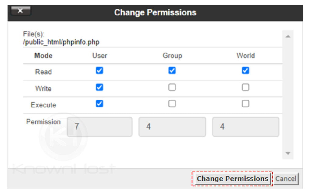 How-to-change-files-or-directory-permission-in-cPanel