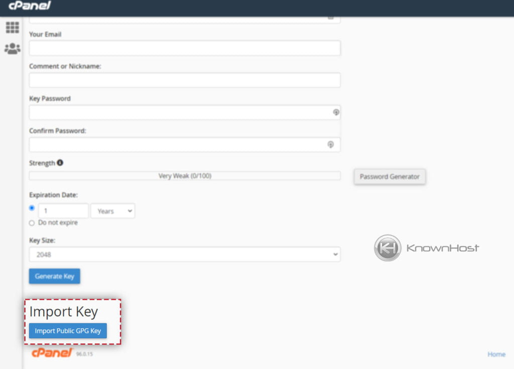 Import-existing-key-in-encryption-cpanel