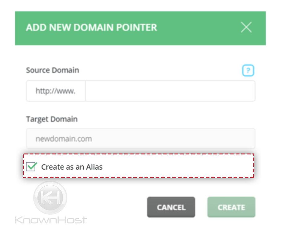 check-the-option-create-as-alias