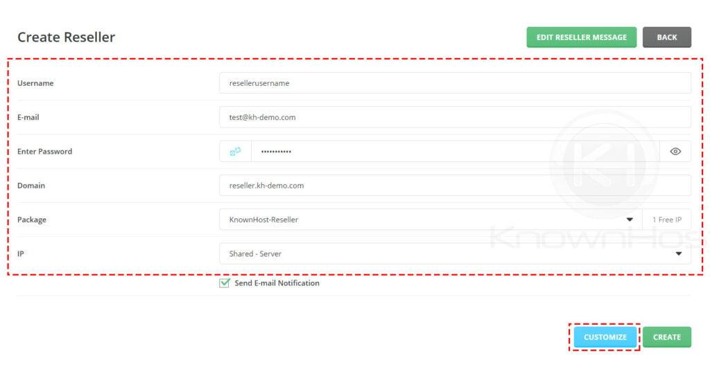 enter-user-name-password-and-settings-reseller-directadmin