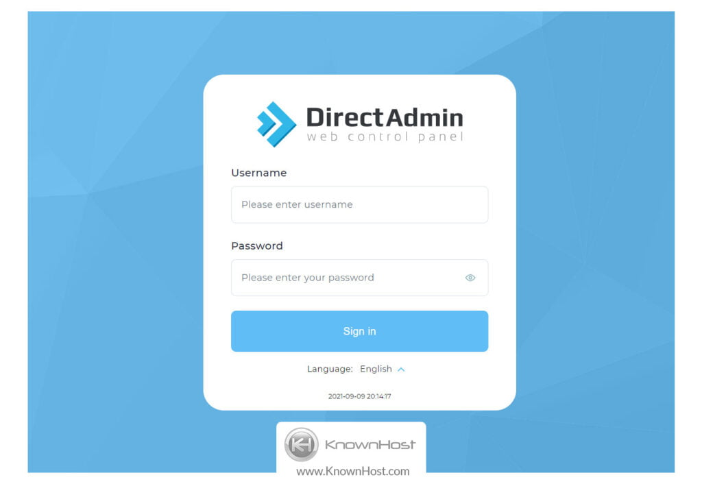 login-into-directadmin