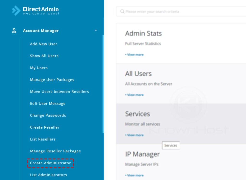 navigate-to-create-administrator-directadmin