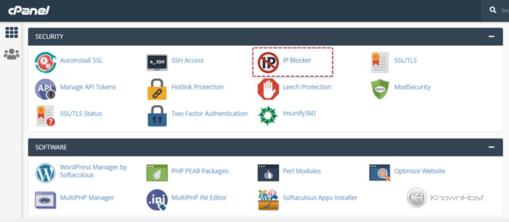 navigate-to-security-IP-blocker-cpanel