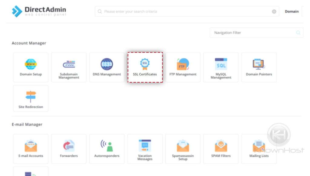 navigate-to-ssl-management-directadmin