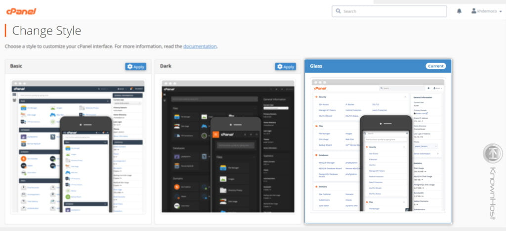 new-style-for-cpanel