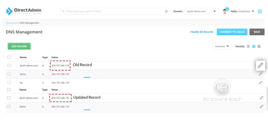 newly-updated-dns-record-directadmin