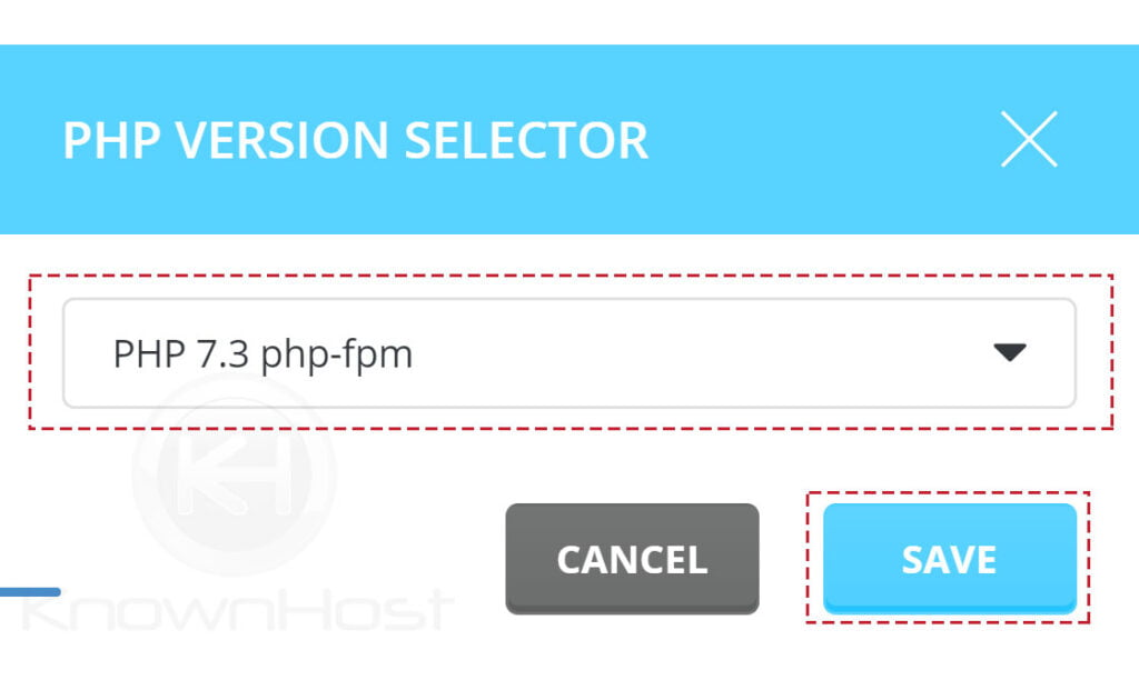 select-php-version-click-on-save-directadmin