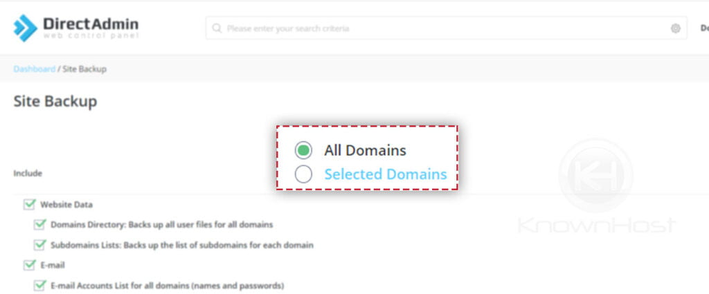 select-the-domain-for-backup=-directadmin