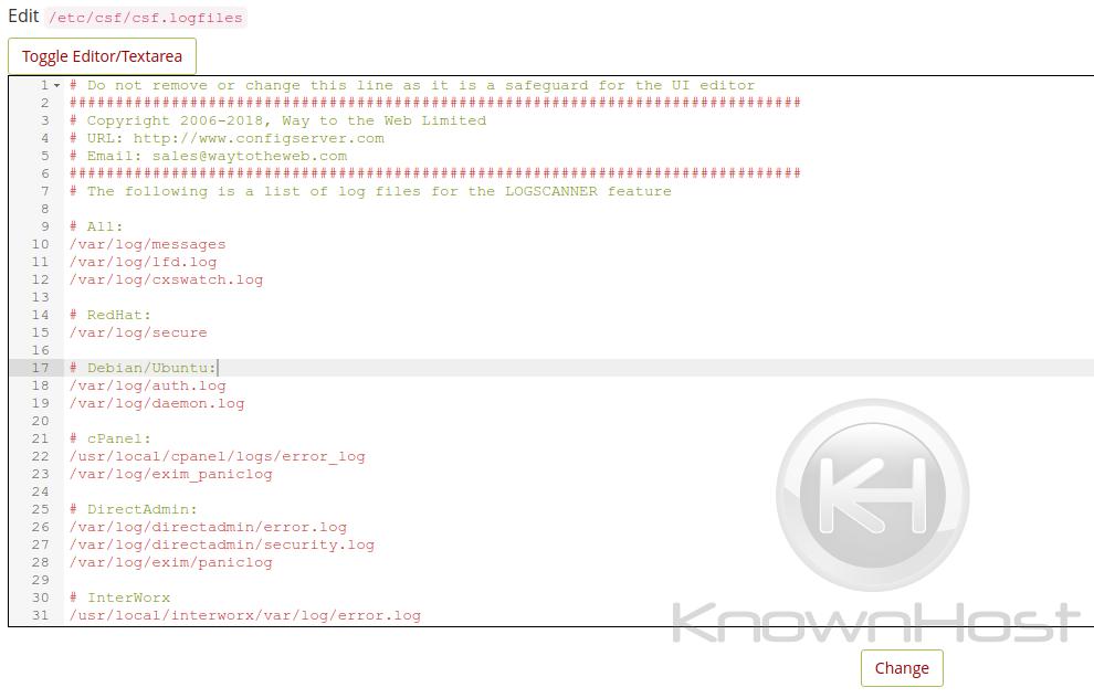 showing logscanner file
